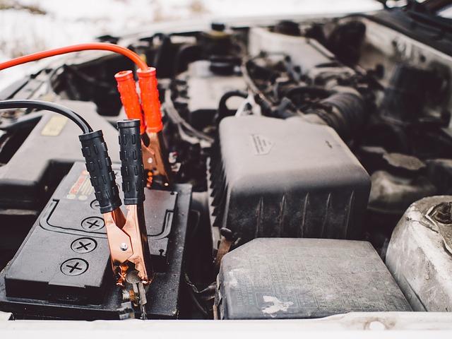 startovací kabely na baterii