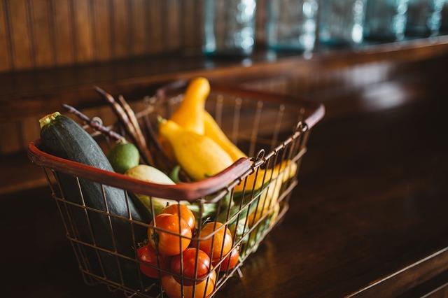 košíček zeleniny